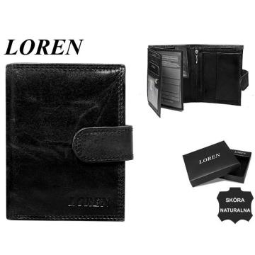 Portfel Męski Skórzany N104L-CL-BOX Black