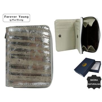 Portfel Damski Skórzany  5157-LN Silver