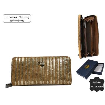 Portfel Damski Skórzany 77006-LN Gold