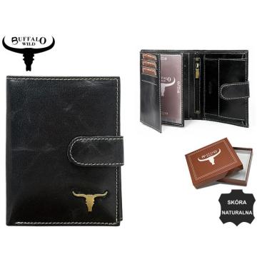 Portfel Męski Skórzany RM-03L-BAW Black
