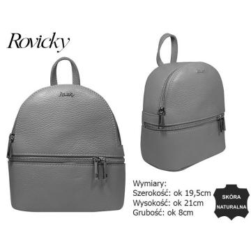Plecak Mały Skórzany TM-015 Grey bez rabatowy