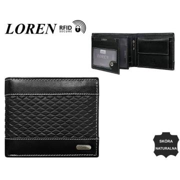 Portfel Męski Skórzany N992-DDG Black+Black