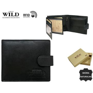 Portfel Męski Skórzany N992L-SCR Black