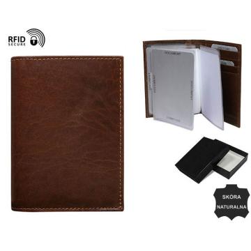 Skórzane Etui na dokumenty TW-12-VT-NL Brown RFID