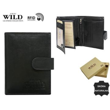 Portfel Męski Skórzany N4L-SCR Black-WILD
