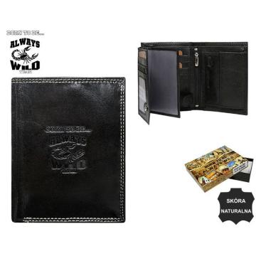 Portfel Męski Skórzany N4-KBR Black