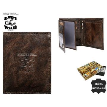 Portfel Męski Skórzany N4-KBR Brown