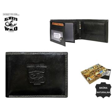 Portfel Męski Skórzany N992-KBR Black