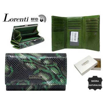 Portfel Damski Skórzany 55020-MSN-RFID Green