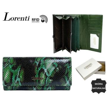 Portfel Damski Skórzany 72401-MSN-RFID Green