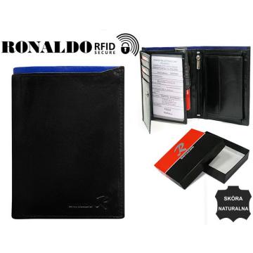 Portfel Męski Skórzany N104-VT-RFID Black+Blue